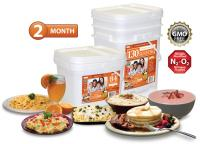 Relief Foods 2 Month Emergency Food Supply - 214 Serving, Entrée & Breakfast Bucket Combo