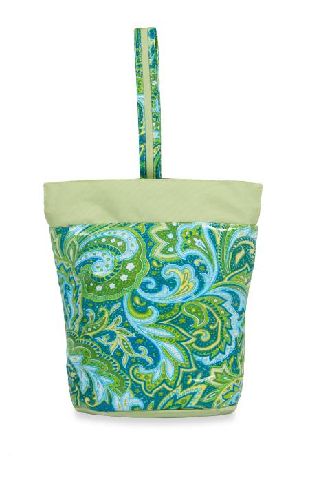 Picnic Plus Razz Lunch Tote - Green Paisley