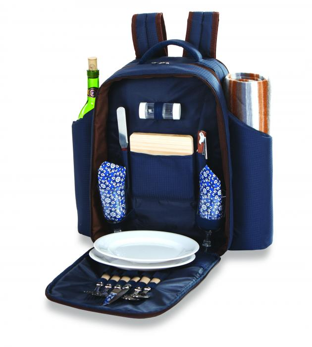 Picnic Plus Millbrook 2 Person Picnic Backpack - Navy