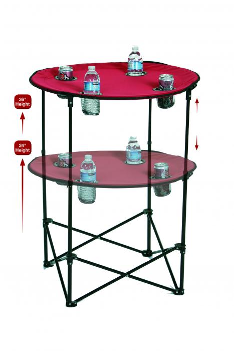 Picnic Plus Portable Tailgate Scrimmage Table, Maroon