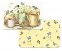 Counter Art Chickadees & Butterflies Reversible Placemat