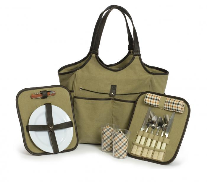 Picnic Plus Palmetto Two Person Picnic Tote - Olive