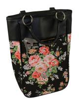 Primeware Harmony Two Bottle Wine Tote - Black Flower