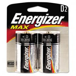 Energizer D Alkaline Batteries, 2 Pack