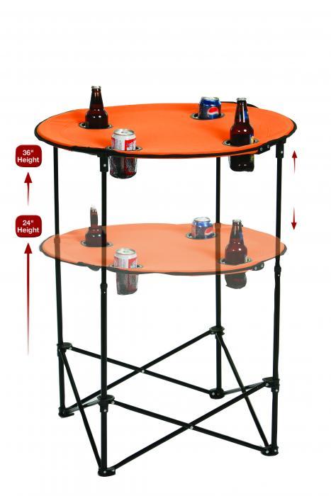 Picnic Plus Portable Tailgate Scrimmage Table, Orange