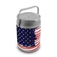 Picnic Time 9 Quart Capacity Can Cooler - Stars and Stripes Can