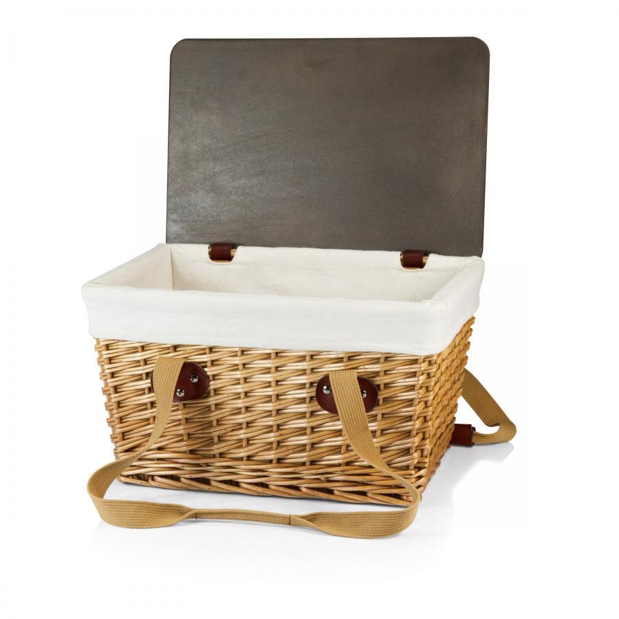 Picnic Basket Empty : Picnic time canasta flat lidded empty basket