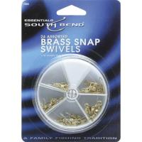 South Bend Swivels Brass Asst Sizes 24 Pk