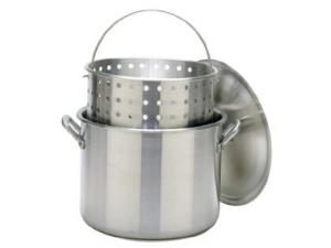Bayou Classic 100 Quart Stockpot with Lid and Basket