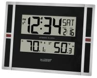 La Crosse Technology Atomic Digital Wall Clock with IN/OUT Temperature
