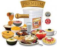 Relief Foods 1-Month Premium Emergency Food Supply - 150 Serving, Premium Entrée & Breakfast Bucket