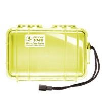 """Pelican Products Micro Case Clear, Yellow, 7.5"""" x 5.06"""" x 2.13"""""""