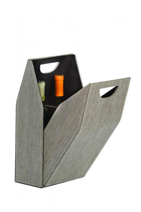 Picnic Plus Double Bottle Wine Box - Tweed