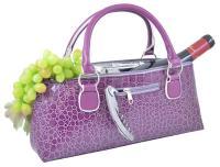 Primeware Wine Clutch - Purple Croc
