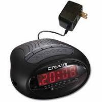 Craig Black Dual Digital Am/FM Radio Alarm Clock