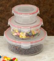 Cookpro Lock & Seal Food Storage Container With Cover-Round - 6pc Set