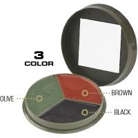 Camcon Camouflage Cream Compact, 3 Color, Black/Brown/Olive