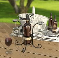 Panacea Wine & Bottle Glasses Caddy