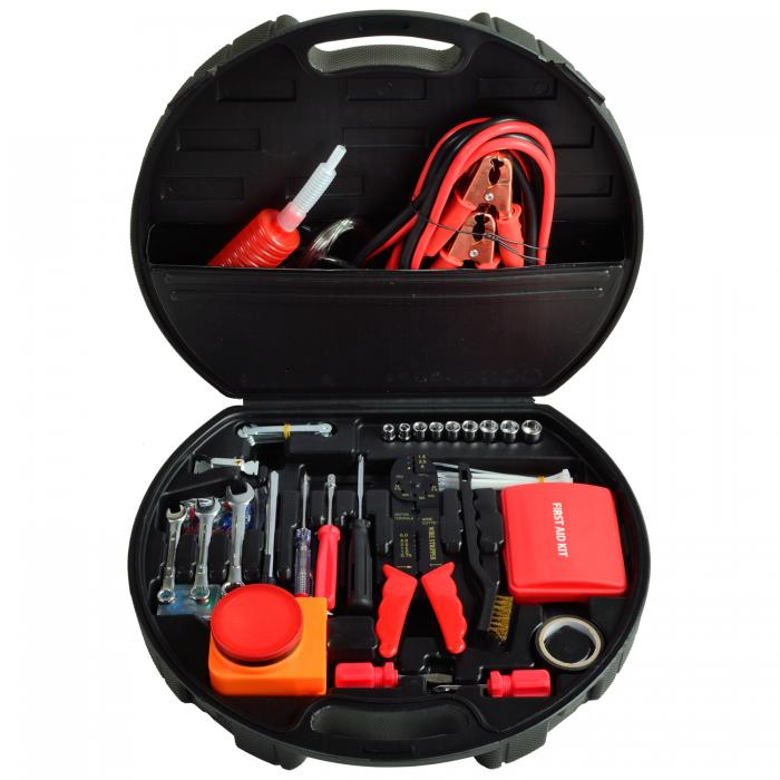 Picnic At Ascot Auto Roadside Emergency Tool Kit 132 Pieces