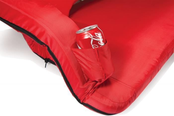 Picnic Time Reflex Portable Reclining Travel Coach, Red
