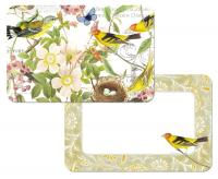 Counter Art Botanical Birds Reversible Placemat