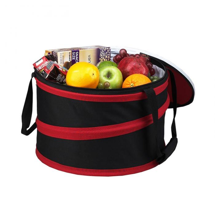 Picnic at Ascot 24 Can Collapsible Cooler -Black/Red