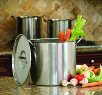 Cook Pro 8-, 12- and 16-Quart Stock Pot Set with Lids, Stainless Steel