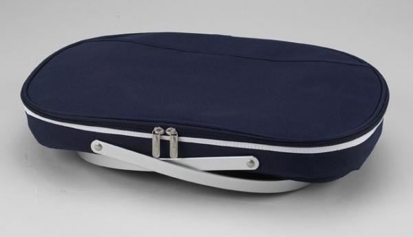 Picnic at Ascot Collapsible Insulated Basket - Navy
