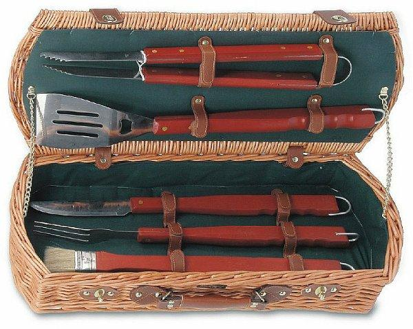 Picnic & Beyond BBQ Skewer Collection Basket