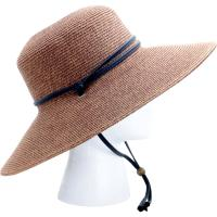 Sloggers Wide Brim Braided Hat Dark Brown