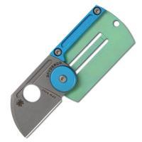 Spyderco Dog Tag, Aluminum/Titanium Handle, Sheepfoot Plain
