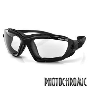 Bobster Action Eyewear Renegade Convertible Sunglasses, Black Frame, Photochromic Lens
