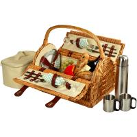 Picnic at Ascot Sussex Picnic Basket for 2 w/Coffee, Wicker/Gazebo