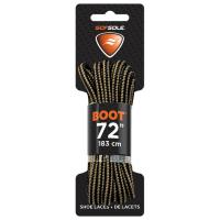 Boot Waxed Lace Black/tan 72""