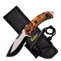 "Elk Ridge Fixed Blade Knife 4.25"" Blade-Jungle Camo Handle"