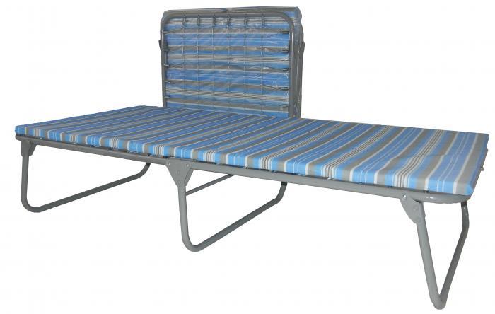 """Blantex Heavy duty steel cot 33 1/2"""" with 1 & 3/16"""" foam mattress"""