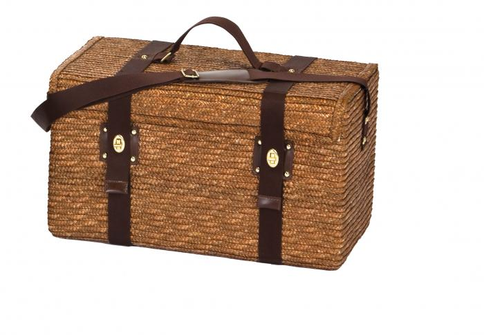 Picnic Plus Woodstock 4-Person Picnic Basket with Insulated Cooler