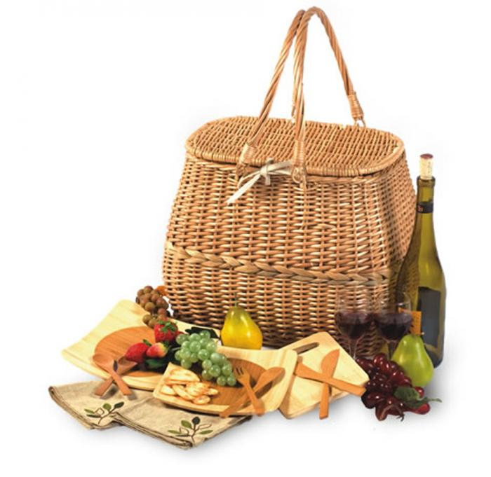 Picnic Plus Eco Friendly 2 Person Picnic Basket with Bamboo Plates and Utensils  sc 1 st  Picnic World : bamboo picnic plates - pezcame.com