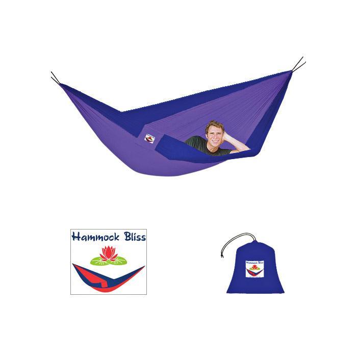 Hammock Bliss Double - Blue/purple