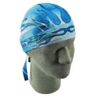 Flydanna Road Hog 100% Cotton Bandana, Blue Blaze