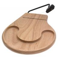 Prodyne Cheese Slicer Tray Beechwood Round Countour