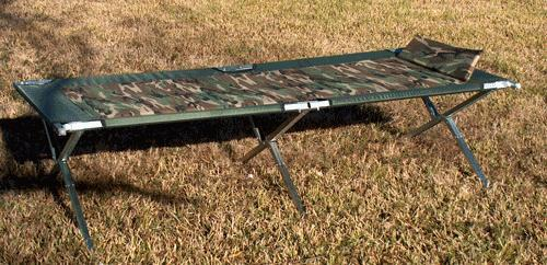 Oversized Steel Army Cot
