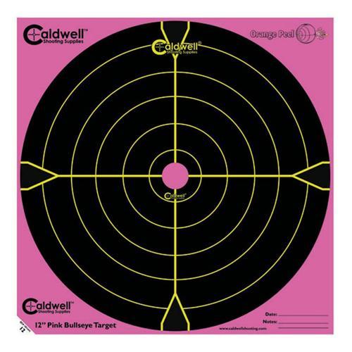 """Orange Peel 12"""" bulls-eye: 5 sheets, PINK"""