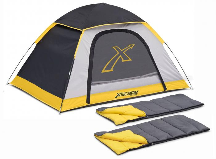 Xscape Designs Explorer 2 Person Dome Tent  & Sleeping Bag Combo