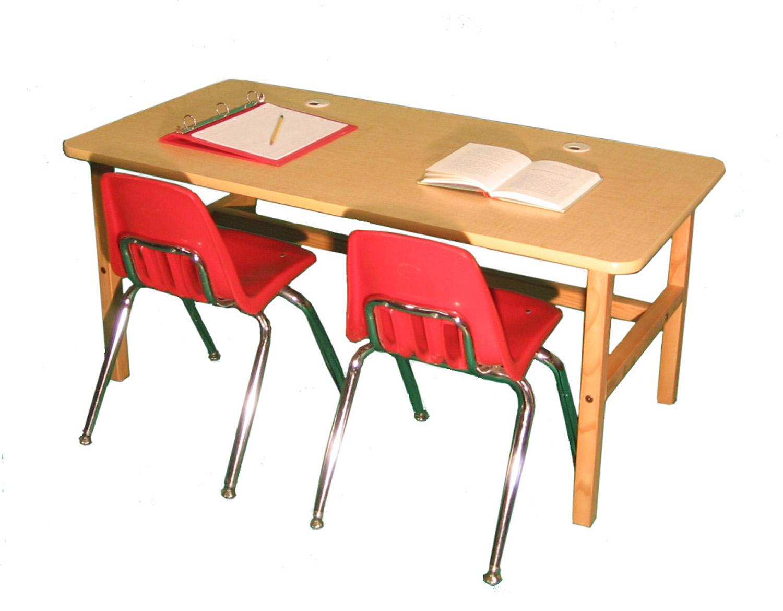 Wild Zoo Side By Side Desk Maple Tan