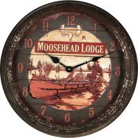 Moosehead Metal Clock 15""