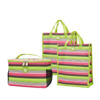 Love Bags Central Park Stripe Chill Set, 3 in 1 Cooler/Tote Set