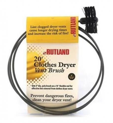 "Rutland 3"" Pellet Stove Brush w/ 20' Flexible Handle"