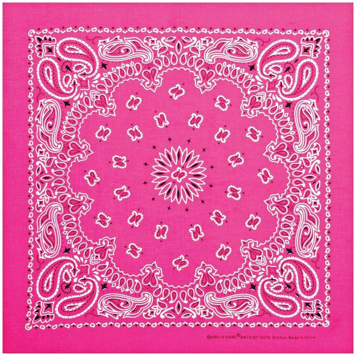 Carolina Manufacturing Neon Paisley Bandana Pink
