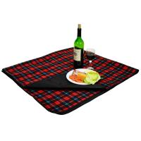 Picnic At Ascot Outdoor Blanket With Waterproof Backing 58 X 53 Red